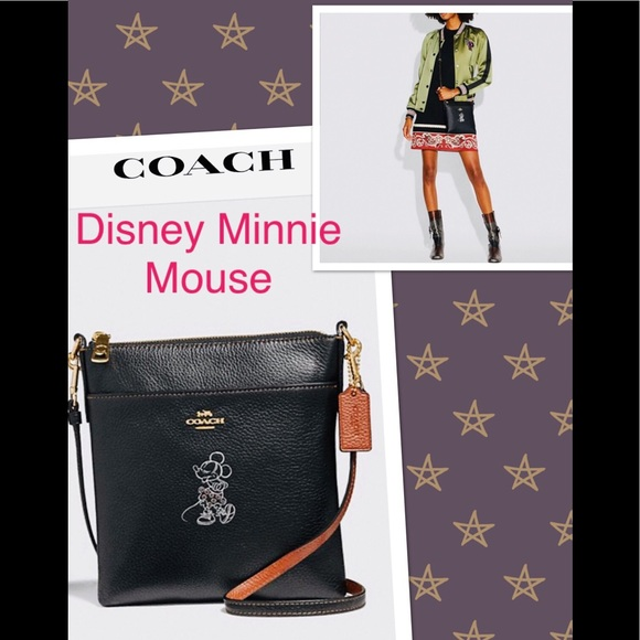 6700896742 🎀Coach Disney X Minnie Mouse Messenger Crossbody